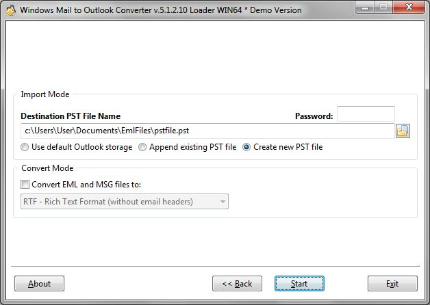Best Live Mail to Outlook Converter Screenshot